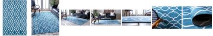Bridgeport Home Pashio Pas8 Blue 4' x 6' Area Rug