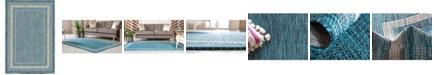 Bridgeport Home Pashio Pas5 Teal 4' x 6' Area Rug