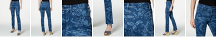 Charter Club Paisley-Print Straight-Leg Jeans, Created for Macy's