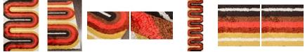 """Novogratz Collection Novogratz Retro Ret-2 Red 3'6"""" x 5'6"""" Area Rug"""