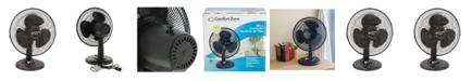 "Comfort Zone Cz121Bk 12"" Oscillating Table Fan"