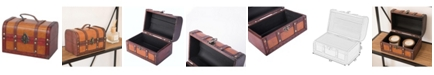 Vintiquewise Decorative Leather Small Treasure Box