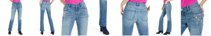 INC International Concepts INC Rhinestone-Embellished Curvy Bootcut Jeans, Created for Macy's
