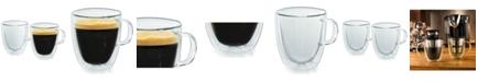 Casa Bellante Milano Double-Wall Glassware Coffee Mug - Set of 2