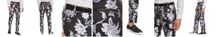 INC International Concepts I.N.C. Men's Slim-Fit Floral Jacquard Pants, Created For Macy's