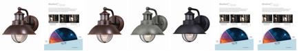 Vaxcel Harwich Motion Sensor Coastal Farmhouse Barn Wall Light Dusk to Dawn