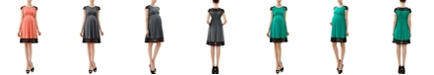 kimi + kai Kate Maternity Lace Insert Skater Dress