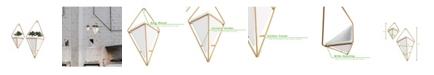 Mind Reader 2 Pack Ceramic Hanging Wall Planter Set