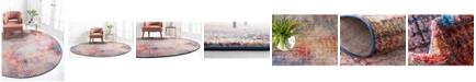Jill Zarin Soho Downtown Jzd003 Multi 8' x 8' Round Rug