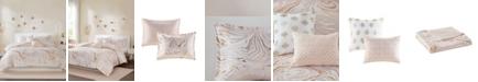 Intelligent Design Rebecca Metallic Printed 5-Piece Full/Queen Duvet Cover Set