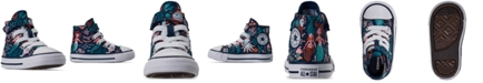 Converse Toddler Girls Chuck Taylor All Star Underwater Party Stay-Put Closure High Top Casual Sneakers from Finish Line