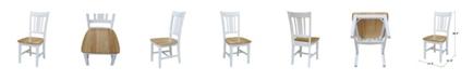 International Concepts San Remo Splatback Chair, Set of 2
