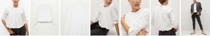 MANGO Women's Ruffle Cotton Blouse