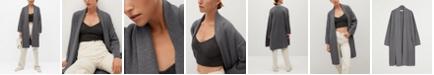 MANGO Women's Knitted Long Coat