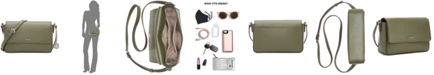 DKNY Bryant Small Leather Flap Crossbody