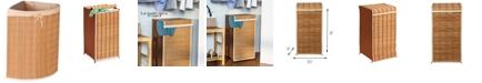 Honey Can Do Wicker Corner Laundry Hamper
