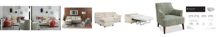 "Furniture Lidia 82"" Fabric Reversible Sectional Sofa Collection, Created for Macy's"