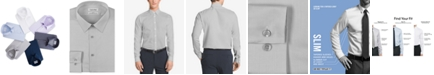 Calvin Klein Men's Slim-Fit Non-Iron Performance Herringbone Point Collar Dress Shirt