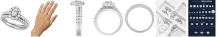 Macy's Star Signature Diamond Oval Cut Halo Engagement Bridal Set (2 ct. t.w.) in 14k White Gold