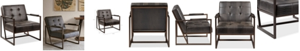 Furniture York Leather Lounger