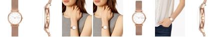 Skagen Women's Signatur Slim Rose Gold-Tone Stainless Steel Mesh Bracelet Watch 30mm