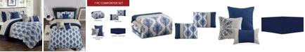 Hallmart Collectibles CLOSEOUT! Gloria 7-Pc. Queen Comforter Set