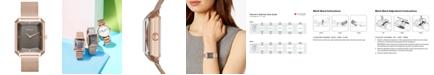 DKNY Women's Cityspire Rose Gold-Tone Stainless Steel Mesh Bracelet Watch 27x34mm, Created for Macy's