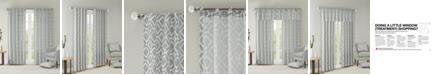 "Madison Park Delray Diamond-Print 42"" x 84"" Twill Curtain Panel"