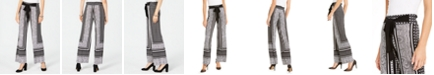 INC International Concepts INC Printed Wide-Leg Soft Pants, Created for Macy's