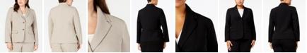 Nine West Plus Size Crepe Two-Button Blazer