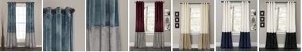 "Lush Decor Prima Velvet Colorblock 84"" x 38"" Curtain Set"
