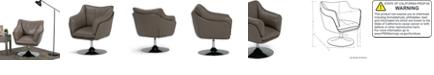 Simpli Home Jasper Swivel Chair, Quick Ship