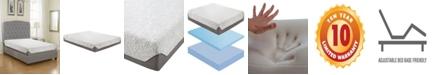 "Boyd Ultima 8"" Medium Firm Plush Top Cooling Air Flow Gel Memory Foam Mattress"
