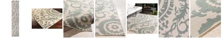 """Surya Alfresco ALF-9614 Sage 2'3"""" x 11'9"""" Runner Area Rug, Indoor/Outdoor"""