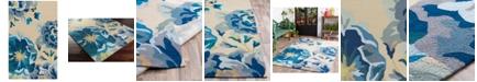 Surya Rain RAI-1231 Bright Blue 3' x 5' Area Rug, Indoor/Outdoor