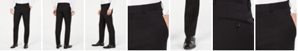 Lauren Ralph Lauren Men's Classic-Fit UltraFlex Stretch Black Flat Front Suit Pants