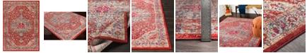 "Surya Bohemian BOM-2307 Bright Red 7'10"" x 10'3"" Area Rug"