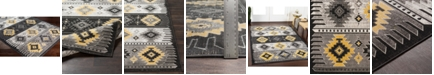 """Abbie & Allie Rugs Rafetus ETS-2330 Butter 18"""" Area Rug Swatch"""