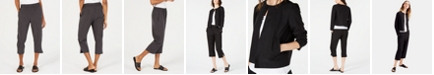 Eileen Fisher Cropped Tencel® and Recycled Polyester Pull-On Pants