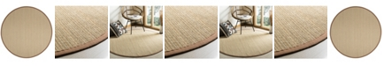 Safavieh Natural Fiber Multi and Light Brown 6' x 6' Sisal Weave Round Area Rug