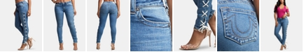 True Religion Jennie Lace-Up Curvy Jeans