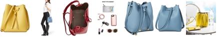 Lauren Ralph Lauren Dryden Debby II Mini Leather Drawstring Bag