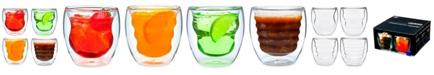 Ozeri Curva Artisan Series Double Wall 8 oz Beverage Glasses - Set of 4