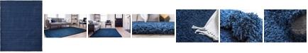 Bridgeport Home Exact Shag Exs1 Navy Blue 12' x 15' Area Rug
