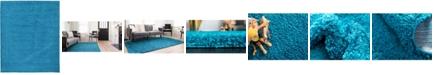 Bridgeport Home Exact Shag Exs1 Turquoise 12' x 15' Area Rug