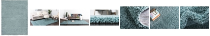 Bridgeport Home Exact Shag Exs1 Light Slate Blue 8' x 11' Area Rug