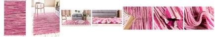 Bridgeport Home Jari Striped Jar1 Pink 4' x 6' Area Rug