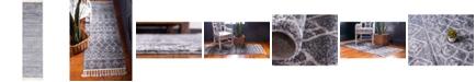 "Bridgeport Home Levia Lev1 Dark Gray 3' 6"" x 13' Runner Area Rug"