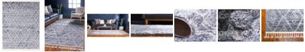 "Bridgeport Home Levia Lev2 Gray 9' 3"" x 12' Area Rug"