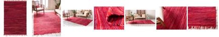 Bridgeport Home Jari Striped Jar1 Red 4' x 6' Area Rug